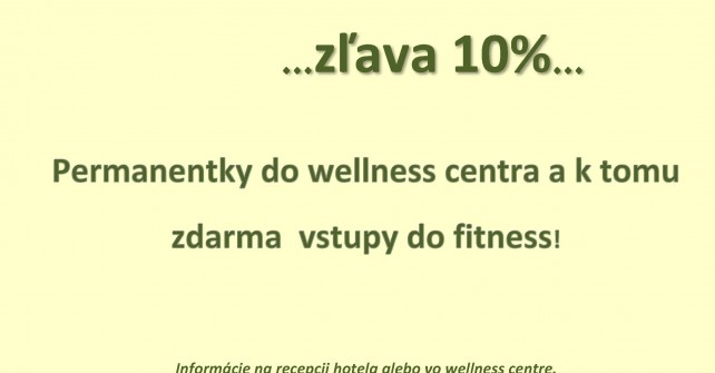 Wellness permanentky